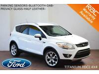 2012 Ford Kuga 2.0TDCi (163ps)4x4 Titanium-B.TOOTH-PARK SENSORS-DAB-HALF LEATHER