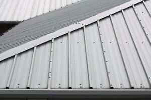 Steel roofing, eavestrough repairs and install