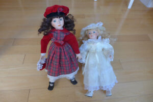 Collection Dolls, Porcelain, with hand painted face