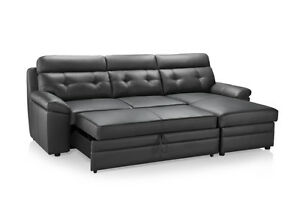 AMAZING DEAL*BRAND NEW REAL LEATHER SOFA BED ON SALE