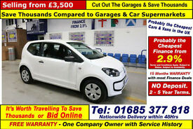 2013 - 13 - VOLKSWAGEN UP TAKE UP 1.0 PETROL 3 DOOR HATCHBACK (GUIDE PRICE)