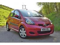 Toyota AYGO 1.0VVT-i (67bhp) AYGO Ice Metallic Red 1 Owner 11,200 miles!