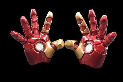 Captain America Handschuhe (Iron Man Captain America 3 Handschuhe Gloves Leucht Sound cosplay Kostüme 1:1 )