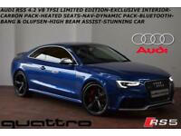 OCT 2015 Audi RS5 4.2 TFSI (450ps) S Tronic QUATTRO Limited Edition-ONLY 75 MADE