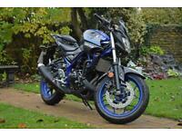 Yamaha MT03 A2 Legal 45bhp 310cc Sports Naked Yamaha Blue 2018 '18 647 miles