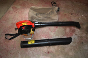Homelite Gas Leaf Blower and Vacuum with Bag and Shoulder Strap