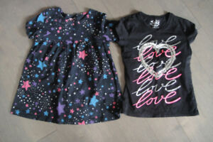 "2 of JUSTICE "" girls Shirt & OshKosh dress, size 7"