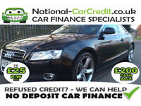 Audi A5 2.0 TFSI SPORT 211PS Good / Bad Credit Car Finance (black) 2008