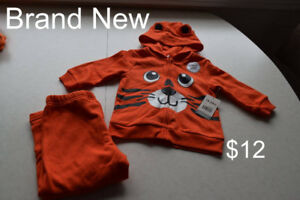 Various Baby Tiger outfits