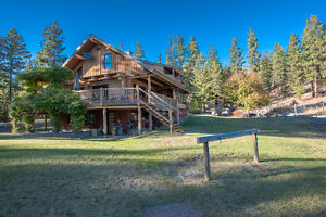 SOLD! Beautiful Log Home for Nature Lovers in Naramata