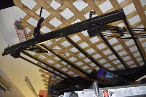 strap on Roof Rack Black Metal Frame for car