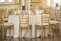 Gold or White Chiavari Chairs for Rent - $5 per chair