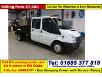 2012 - 62 - FORD TRANSIT T350 2.2TDCI 100PS RWD DOUBLE CAB TIPPER (GUIDE PRICE)