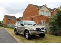 2001 Nissan Patrol 3.0 diesel auto full 1yr Mot, Full leather, 7 seater, Sunroof, Tow bar, Hpi clear