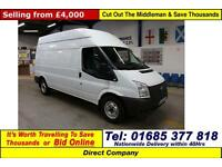 2012 - 12 - FORD TRANSIT T350 2.2TDCI 125PS HIGH TOP LWB VAN (GUIDE PRICE)