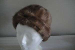 Women Real Mink Fur Hat Lady Courtesy Winter Cap Warm Leisure Ha