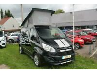 No VAT Ford Custom CAMPER Van 290 Limited 2.0TDCi 170PS L1H1 in Black + Cam