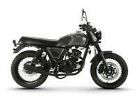 Bullit Motorcycles BluRoc 125cc Classic Style- New- 2 Years Warranty