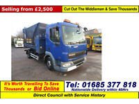 2006 - 06 - DAF LF 45.150 4X2 7.5TON AUTO CAGED TIPPER (GUIDE PRICE)