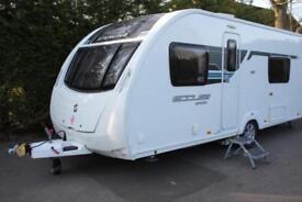 Sterling Eccles Sport 564 SR 2013 4 Berth Fixed Single Beds Caravan +Motor Mover