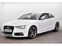 2014 Audi A5 S5 TFSI QUATTRO S LINE BLACK EDITION Petrol white Automatic