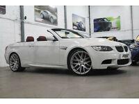 BMW M3 4.0 V8 Convertible, 08 Reg, 45k, Alpine White, Chestnut Leather, Pro Nav.