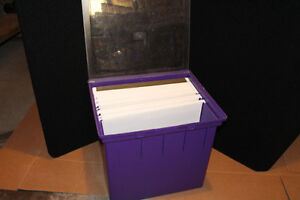 "12"" x 12"" Paper Storage Tote with Hinged Lid Cambridge Kitchener Area image 2"