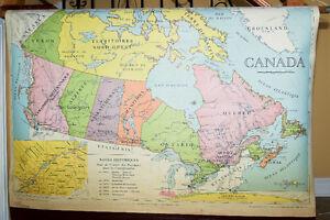 Mappe du Canada 1955