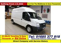 2008 - 58 - FORD TRANSIT T350 2.4TDCI 115PS LWB HI TOP VAN (GUIDE PRICE)