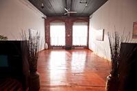 Loft / salle à louer pour événements privés (Quartier St-Henri)