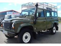 Land Rover Defender 110 200 Tdi Csw Met Green 12 Seater 3 Owners