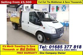 2012 - 62 - FORD TRANSIT T350 2.2TDCI 100PS LWB DOUBLE CAB TIPPER (GUIDE PRICE)