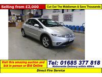 2007 - 07 - HONDA CIVIC SE 2.2 I-CTDI 3 DOOR HATCHBACK (GUIDE PRICE)