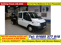 2012 FORD TRANSIT T350 2.4TDCI 100PS RWD 6 SEAT CREW CAB TIPPER (GUIDE PRICE)