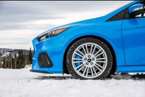 4 mags 18'' 5x108 avec pneus d'hiver Michelin Pilot Alpin PA4