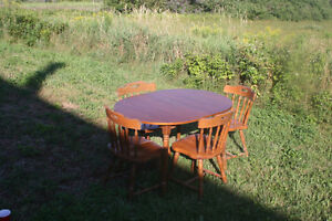 Good table and 4 chairs