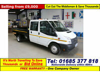 2014 - 14 - FORD TRANSIT T350 2.4 TDCI 100 CREW CAB TIPPER (GUIDE PRICE)