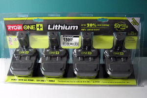 RYOBI  ONE+  2x P102 Compact Lithium Batteries 18V - NEW