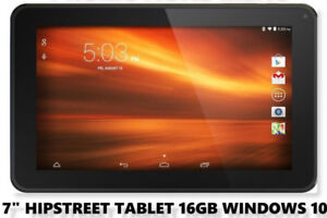"7"" HIPSTREET TABLET 1GB RAM 16GB STORAGE WINDOWS 10"