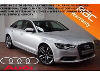 2013 Audi A6 Saloon 2.0TDI(177ps) SE-NAV-B.TOOTH-LEATHER-CRUISE-LOW MILES-F.S.H.