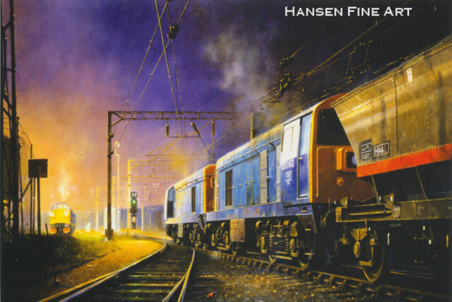 Class 20 BR Diesel Locomotive Engine Railway Train Birthday Card