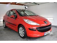 2006 56 Peugeot 207 1.4 16v 90 S + 3 Door, Petrol, Red +