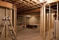 $2800 for most framed basements including materials
