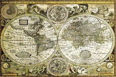 World Map Historical Poster Print  36X24  World Map