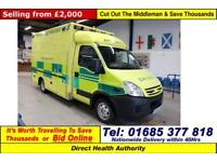 2008 - 08 - IVECO DAILY 50C18 3.0HPI WILKER BODY AMBULANCE / CAMPER GUIDE PRICE
