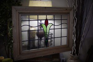 SALE - Restored Stained Glass Panel - 1920's.