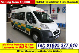 2012 - 62 - PEUGEOT BOXER 435 2.2HDI 7 SEAT DISABLED ACCESS PTS MINIBUS