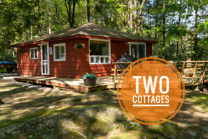 TWO COTTAGES ON A PRIVATE LOT IN SEBRIGHT. ONE PRICE!