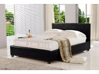 【❋❋ CASH ON COLLECTION ❋❋ 】SINGLE,DOUBLE & KING SIZE FAUX LEATHER DOUBLE BED FRAME + MATTRESS