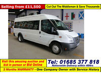 2013 - 13 - FORD TRANSIT T430 2.2TDCI 135PS RWD 17 SEAT MINIBUS (GUIDE PRICE)